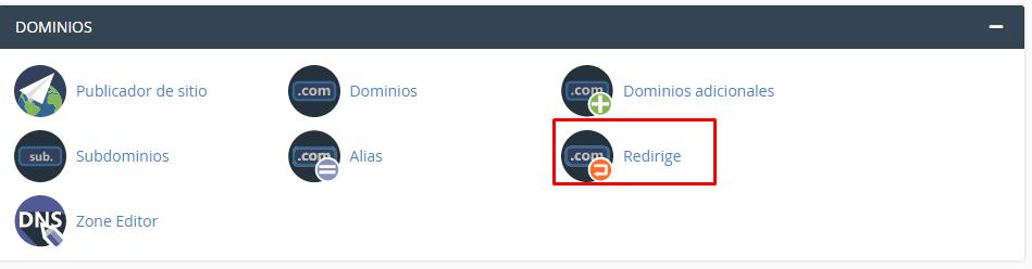 Redireccionar Mi Sitio Web desde Cpanel